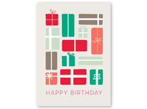 Pretty Packages Birthday Greeting Card